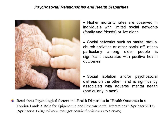 Psychosocial Relationships and Health Disparities