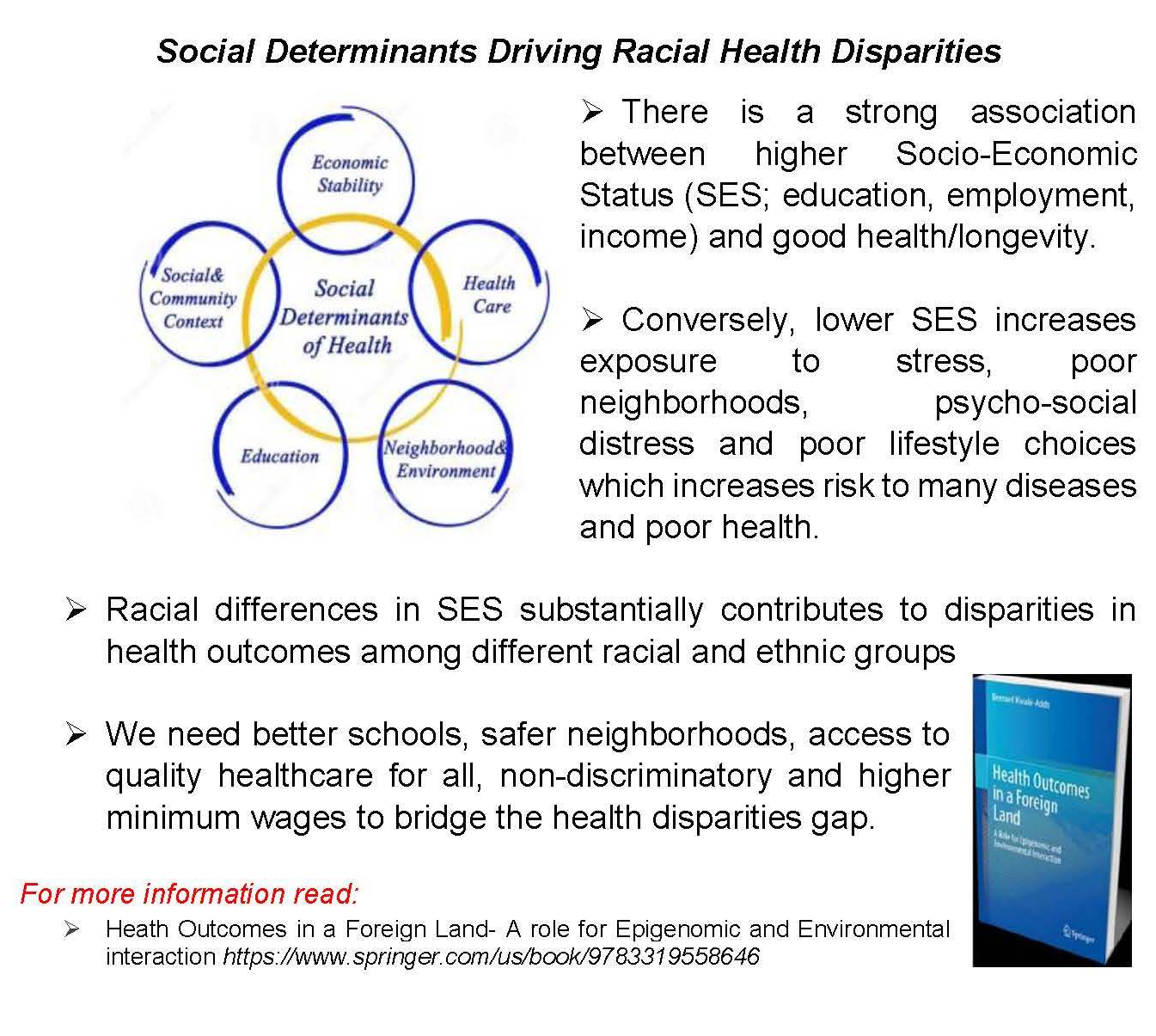 Social Determinants Driving Racial Health Disparities