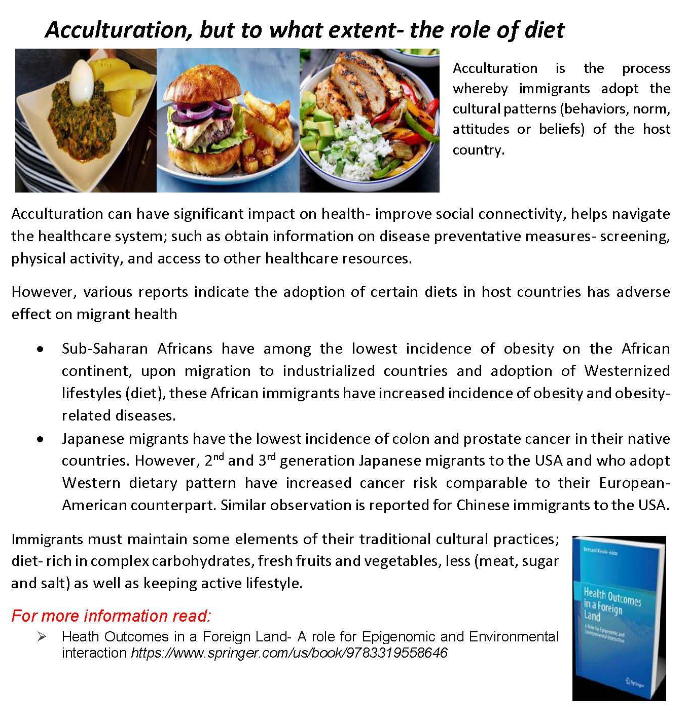 Acculturation and migrant diet